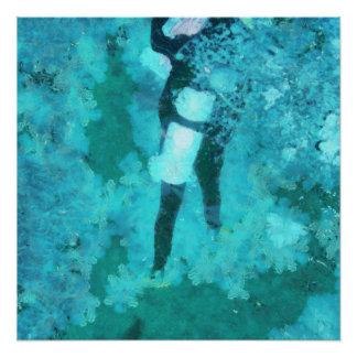 Scuba diver and bubbles