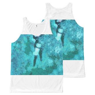 Scuba diver and bubbles All-Over print singlet
