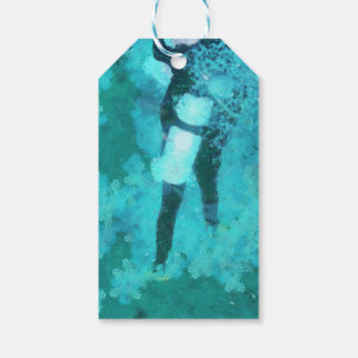 Scuba diver and bubbles gift tags