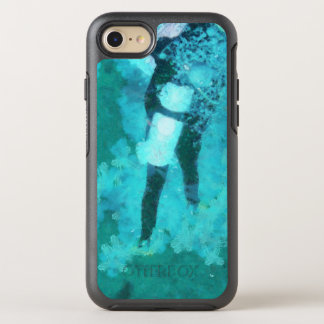 Scuba diver and bubbles OtterBox symmetry iPhone 8/7 case