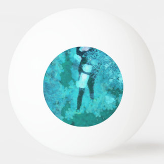 Scuba diver and bubbles ping pong ball