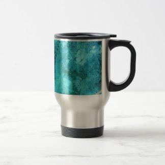 Scuba diver and bubbles travel mug