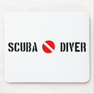 Scuba Diver Cool design! Mouse Pad