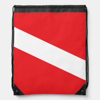 Scuba Diver Dive Flag Drawstring Bag