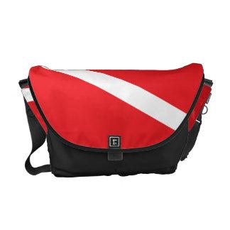 Scuba Diver Dive Flag Messenger Bag