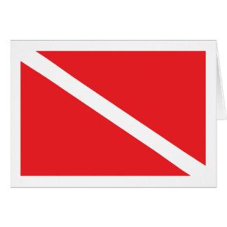 SCUBA Diver Down Flag Card