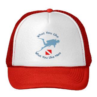 Scuba Diver Down Hat