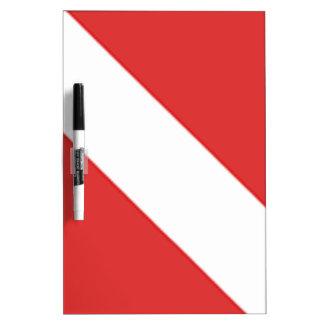 SCUBA DIVER  DRYERASEBOARD.  DIVERS FLAG GIFT DRY ERASE BOARD