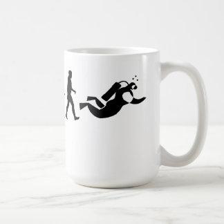Scuba Diver Evolution Mug