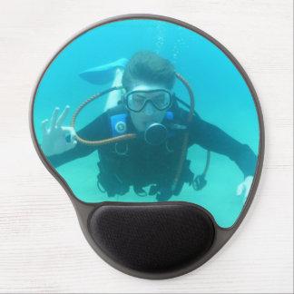 Scuba Diver Gel Mouse Pad