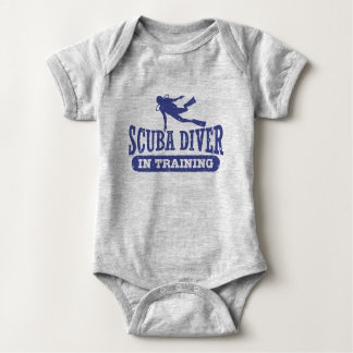 Scuba Diver In Training Baby Bodysuit