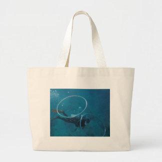 Scuba Diver Large Tote Bag