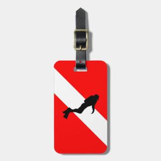 Scuba Diver Luggage Tag