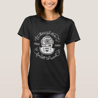 Scuba Diver Retro Vintage Illustrations Prints T-Shirt