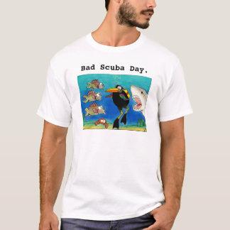 Scuba diver shark week funny tee shirt