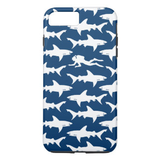 Scuba Diver Swimming with a School of Sharks iPhone 7 Plus Case