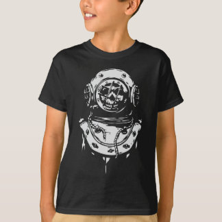 Scuba Diver with Skull T-Shirt