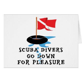 Scuba Divers Go Down For Pleasure Card