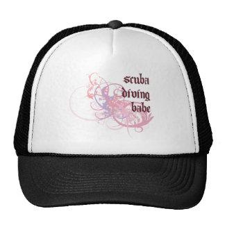 Scuba Diving Babe Mesh Hat