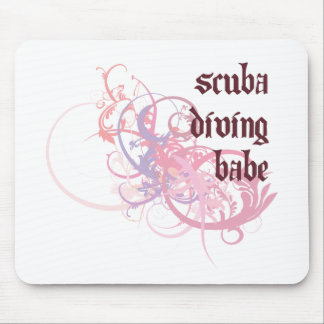 Scuba Diving Babe Mouse Mat