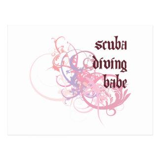 Scuba Diving Babe Postcard