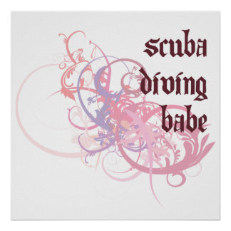 Scuba Diving Babe Posters