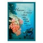 Scuba Diving Birthday Greeting Cards