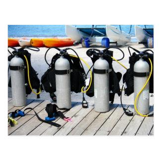 Scuba Diving Compressed Oxygen Tanks Postcard