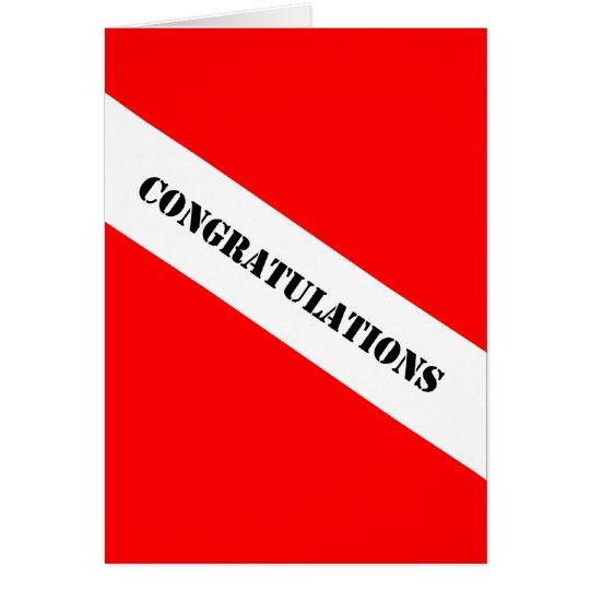 Scuba Diving Congratulations Card