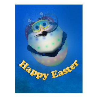 Scuba Diving Easter Egg Downunder Post Cards