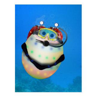 Scuba Diving Easter Egg Postcard
