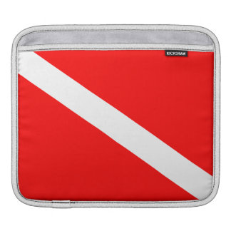 Scuba Diving Flag iPad Sleeve