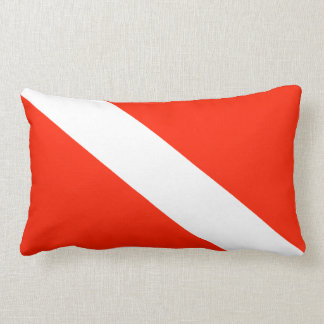 Scuba Diving Flag Lumbar Cushion