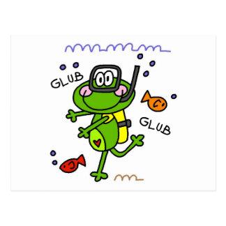 Scuba Diving Froggie Boy Postcards