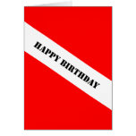 Scuba Diving Happy Birthday Greeting Card