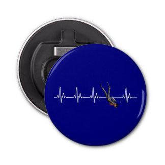 SCUBA Diving Heartbeat Bottle Opener