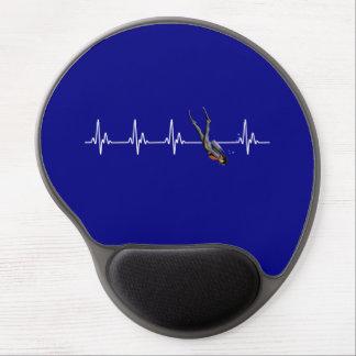 SCUBA Diving Heartbeat Gel Mouse Pad