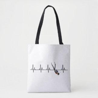 SCUBA Diving Heartbeat Tote Bag
