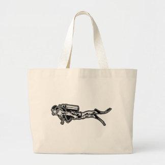scuba diving large tote bag