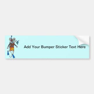 Scuba Diving Mouse Bumper Sticker
