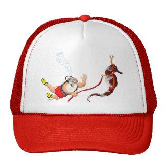 Scuba Diving Santa & Seahorse Hat