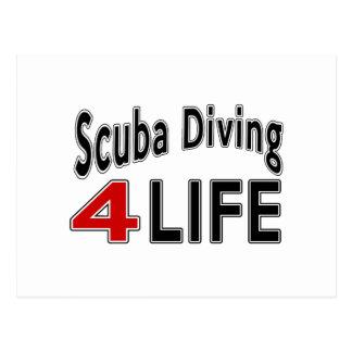 Scuba Diving.Scuba Diving. For Life Postcard