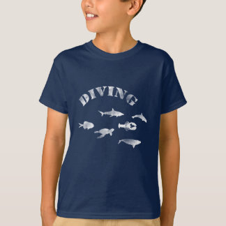 Scuba Diving, Swimming Fishes. Sea Life, Fish T-Shirt