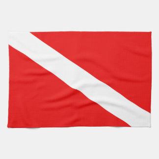 Scuba Flag Tea Towel