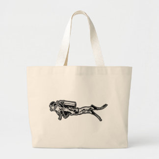 scuba more diver large tote bag