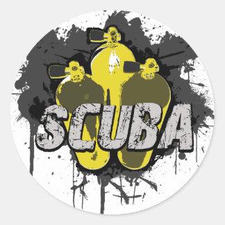 Scuba Round Sticker