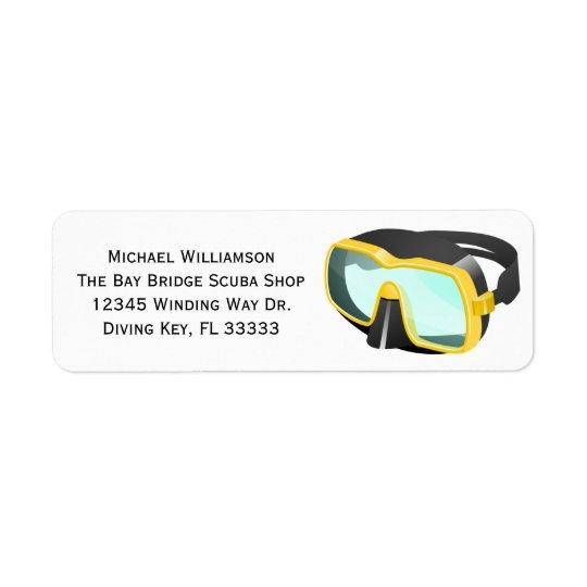 Scuba Snorkel Diving Mask Custom Name or Business Return Address Label