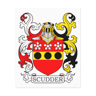 Scudder Coat of Arms Canvas Prints