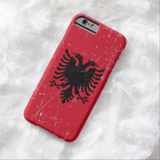 Scuffed and Scratched Albanian Flag Barely There iPhone 6 Case