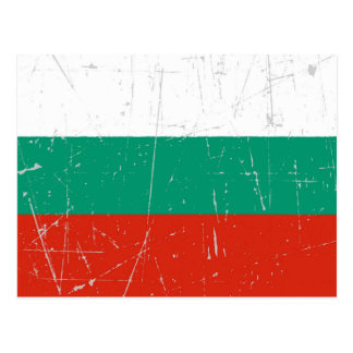 Scuffed and Scratched Bulgarian Flag Postcard